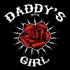 Daddy's Girl rose - T-shirt col V Femme
