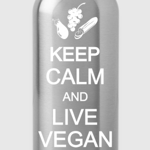keep calm live vegan vegetarian T-Shirts - Trinkflasche