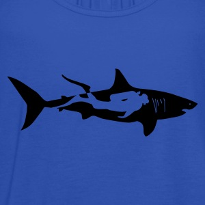 scuba diving diver shark jaws whale dolphin Hoodies & Sweatshirts - Women's Tank Top by Bella