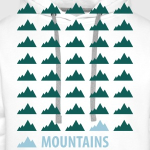 Mountains Tee shirts - Sweat-shirt à capuche Premium pour hommes