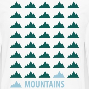 Mountains Tee shirts - T-shirt manches longues Premium Homme