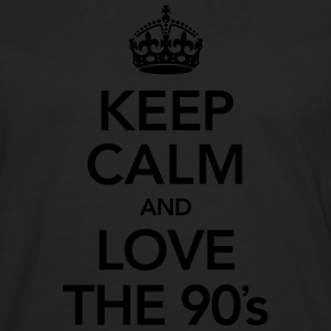 Keep Calm And Love The 90´s T-shirts - Mannen Premium shirt met lange mouwen
