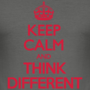 Keep Calm and Think Different Bags & Backpacks - Men's Slim Fit T-Shirt
