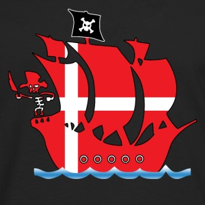 Pirate ship danmark flag Shirts - Men's Premium Longsleeve Shirt