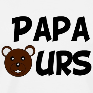 Papa ours Bottles & Mugs - Men's Premium T-Shirt