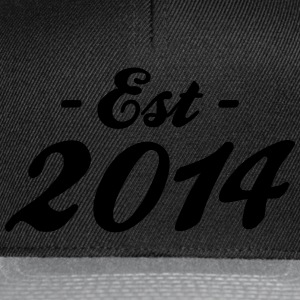 established 2014 - geburt T-Shirts - Snapback Cap