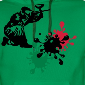 paintball Tee shirts - Sweat-shirt à capuche Premium pour hommes
