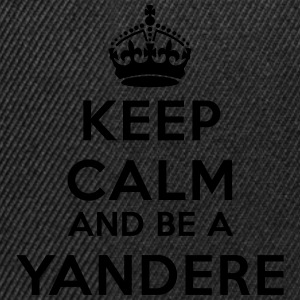 Keep calm and be a yandere Tee shirts - Casquette snapback