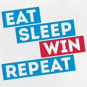 eat sleep win repeat winter sports football games Shirts - Baby T-Shirt