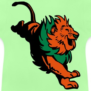 Great Jumping Lion by Cheerful Madness!! Hoodies - Baby T-Shirt