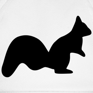 vigilant squirrel chipmunk silhouette T-Shirts - Baseball Cap
