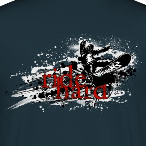 ride hard snow Tröjor - T-shirt herr