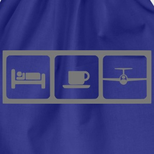 sleep coffee gliding T-Shirts - Turnbeutel