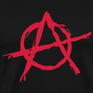 Anarchy symbol chaos rebel revolution punk fighter Felpe - Maglietta Premium da uomo