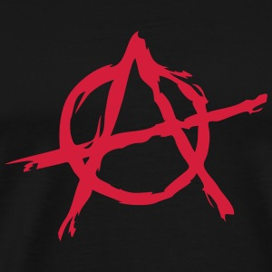 Anarchy symbol chaos rebel revolution punk fighter Gensere - Premium T-skjorte for menn