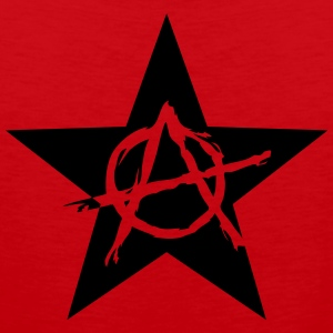 Star Anarchy chaos rebel revolution protest black  Magliette - Canotta premium da uomo