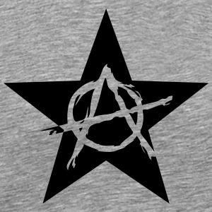 Star Anarchy chaos rebel revolution protest black  Long sleeve shirts - Men's Premium T-Shirt