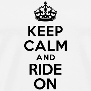 Keep calm and ride on horse Bouteilles et tasses - T-shirt Premium Homme
