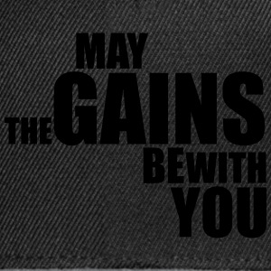 May the Gains be with you T-Shirt (Vector) - Snapback Cap