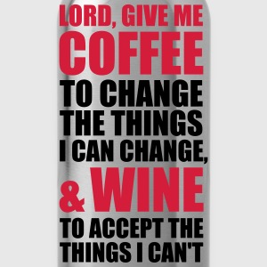 Lord give me Coffee and Wine 2c Männer Herren Alk - Trinkflasche