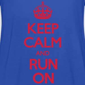 Keep Calm and Run On T-Shirts - Frauen Tank Top von Bella