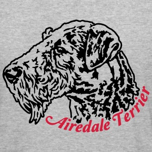 614 Airedale Terrier Pullover & Hoodies - Männer Slim Fit T-Shirt