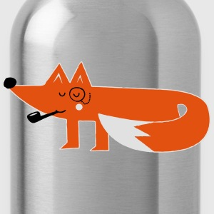 Funny swag hipster cartoon fox T-Shirts - Water Bottle
