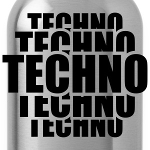 Cool Techno Pattern T-Shirts - Water Bottle