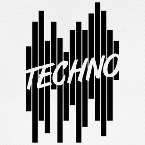 Techno Stripes Logo Camisetas - Gorra béisbol