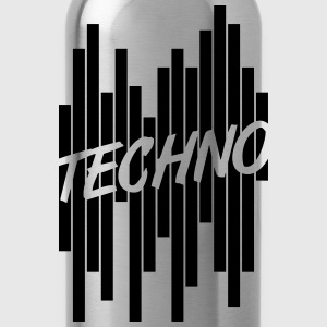 Techno Stripes Logo T-shirts - Drikkeflaske
