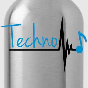 Techno Heartbeat Music Note T-shirts - Drikkeflaske