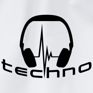 Techno Headphone Logo Magliette - Sacca sportiva