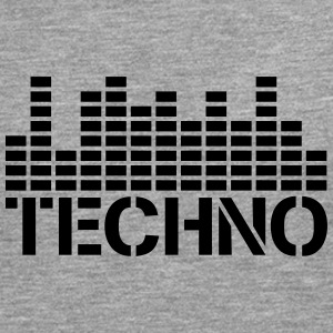 Techno Equalizer Logo Tee shirts - T-shirt manches longues Premium Homme