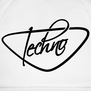 Cool Techno Text Logo T-shirts - Baseballkasket