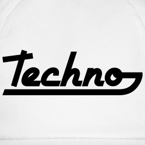 Techno Text Camisetas - Gorra béisbol