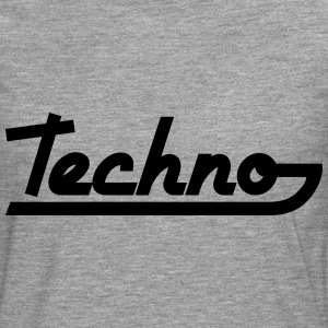 Techno Text T-skjorter - Premium langermet T-skjorte for menn