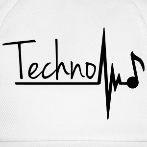 Techno Heartbeat Music Note T-shirts - Baseballkasket