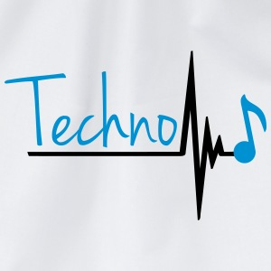 Techno Heartbeat Music Note T-skjorter - Gymbag