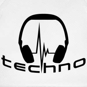Techno Headphone Logo T-skjorter - Baseballcap
