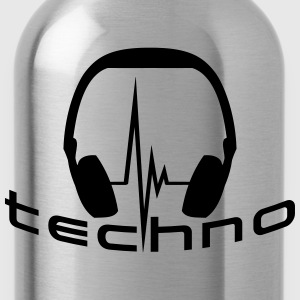 Techno Headphone Logo T-shirts - Drikkeflaske
