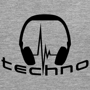 Techno Headphone Logo Tee shirts - T-shirt manches longues Premium Homme