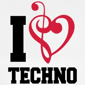 I Love Techno Music T-shirts - Baseballkasket