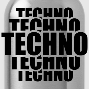 Cool Techno Pattern T-shirts - Drikkeflaske