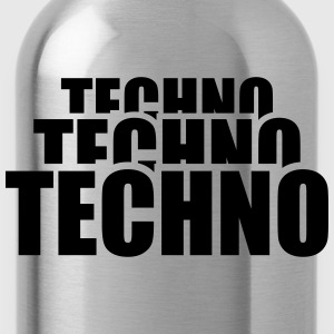 Cool Techno Design T-shirts - Drikkeflaske