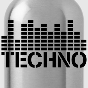 Techno Equalizer Logo T-Shirts - Water Bottle