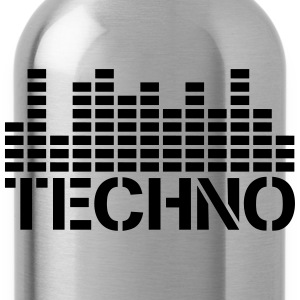 Techno Equalizer Logo T-Shirts - Trinkflasche