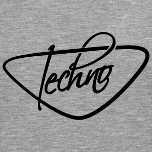 Cool Techno Text Logo T-skjorter - Premium langermet T-skjorte for menn