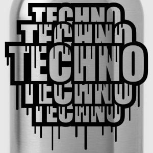 Cool Techno Stamp T-shirts - Drikkeflaske