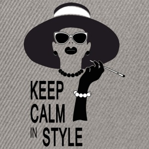 keep calm in style Camisetas - Gorra Snapback