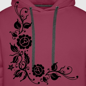 Rosen, Blumen, roses, flowers Long Sleeve Shirts - Men's Premium Hoodie